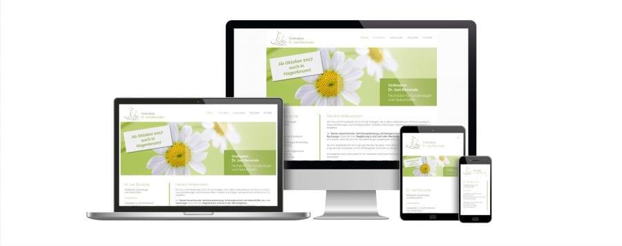 Webseite von Dr. Jael Bezwoda gestaltet von rechnerherz