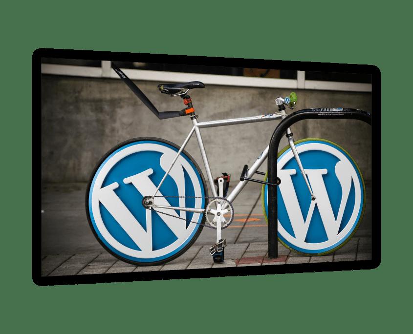 Wordpress-Fahrrad für Wordpress-Entwicklung.