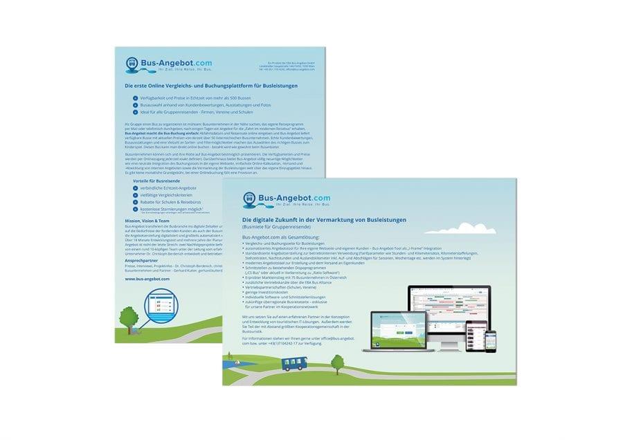 Informationsblätter Bus-Angebot