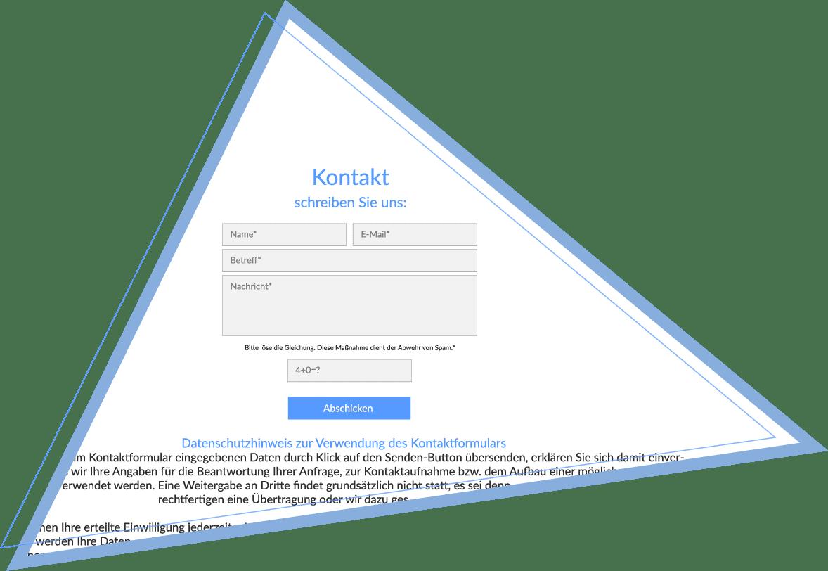 Kontaktformular - Keine Datenerhebung ohne Datenschutzhinweis.