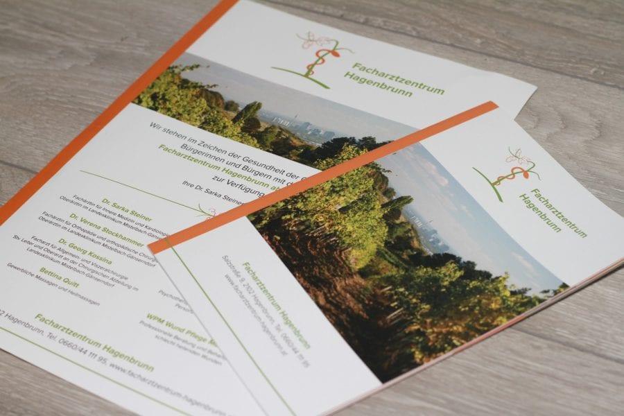 FAZ Hagenbrunn Flyer und Broschüre