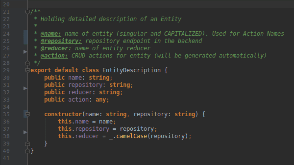 Entity Description Class