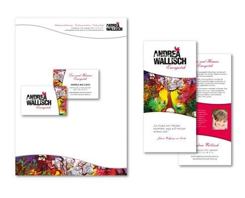 Andrea Wallisch Visitenkarten, Flyer, Briefpapier