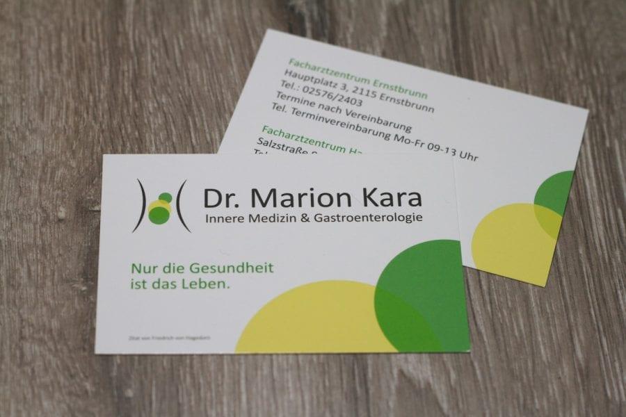 Dr. Marion Kara Visitenkarte