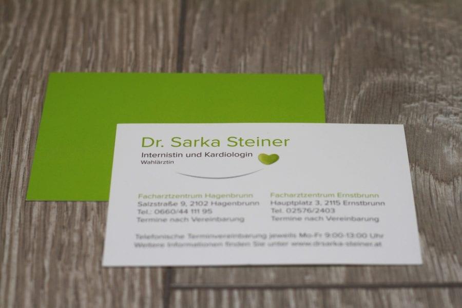 Dr. Sarka Steiner Visitenkarte