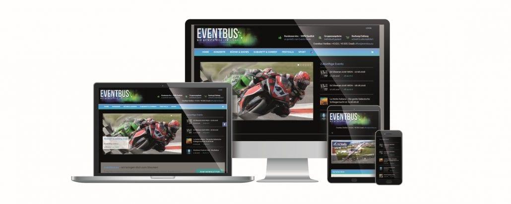 Eventbus Website by rechnerherz
