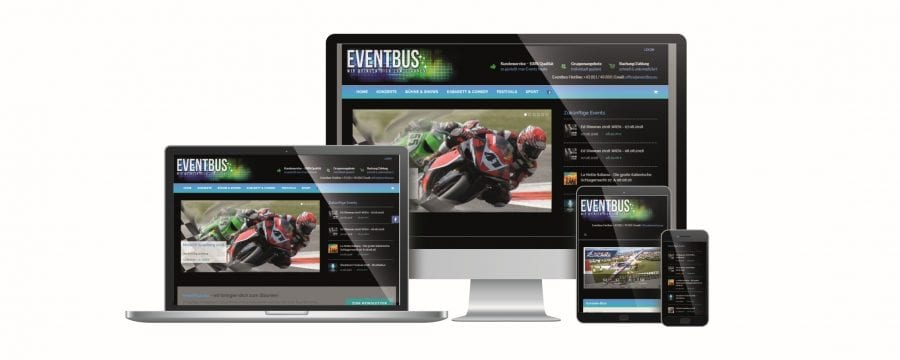 Eventbus Website by rechnerherz