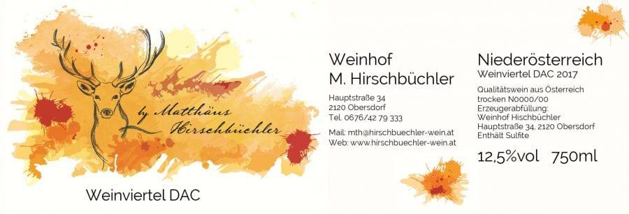 Weinhof Hirschbüchler Etikette