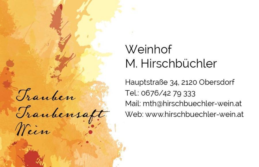 Hirschbüchler Wein Visitenkarte