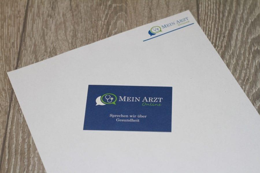 Mein Arzt Online Visitenkarte, Briefpapier