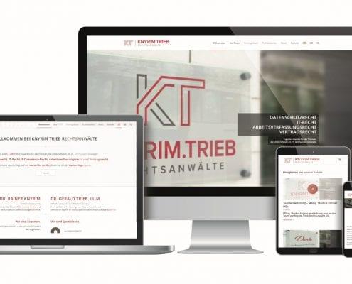 Päsentation Webseite Knyrim Trieb Rechtsanwälte - rechnerherz