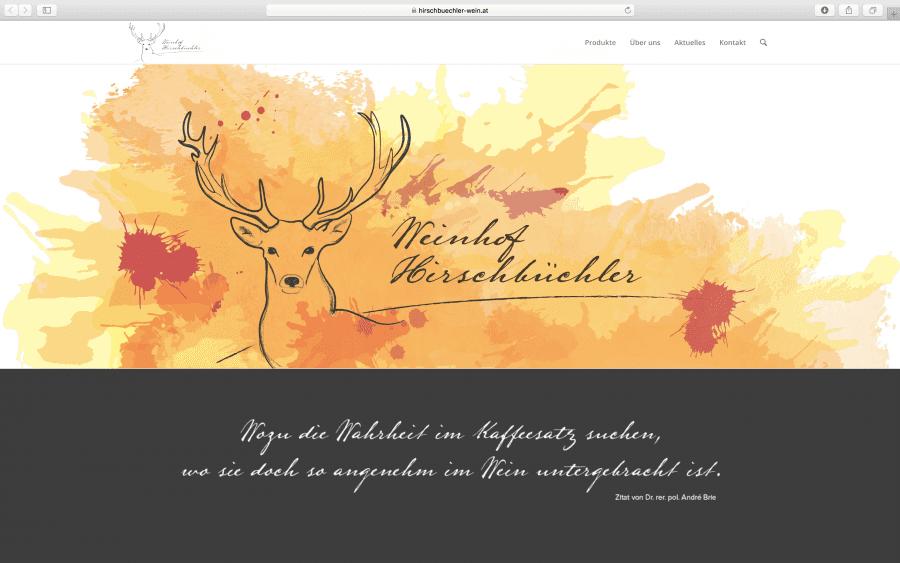 Weinhof Hirschbüchler Webseite