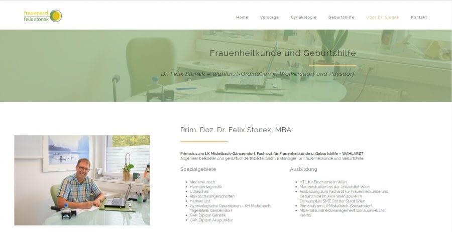 Kontaktseite - Webseite Arzt