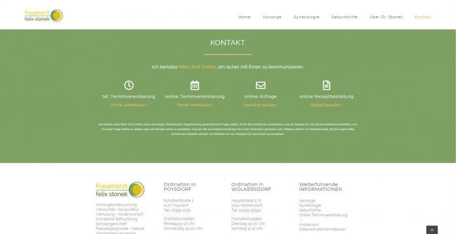 Kontaktdaten - Webseite Arzt