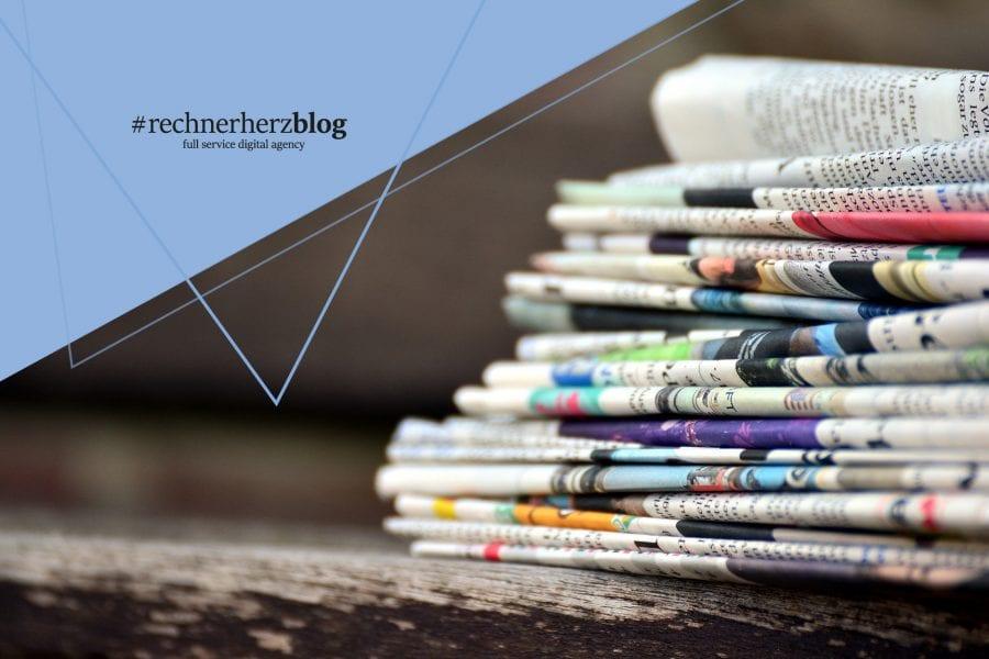 Bild von einem Stapel Zeitungen