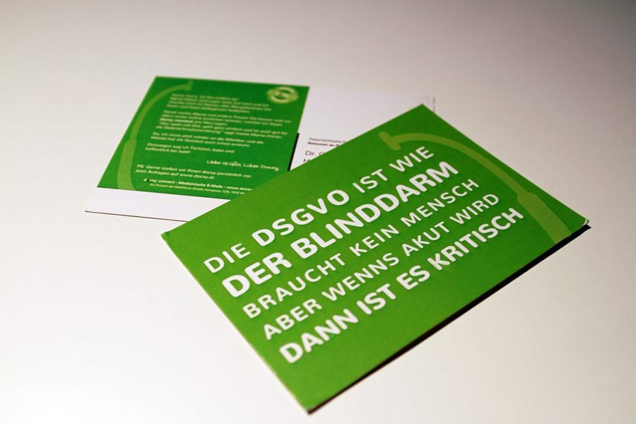 DSGVO - Postkartenaussendung 1