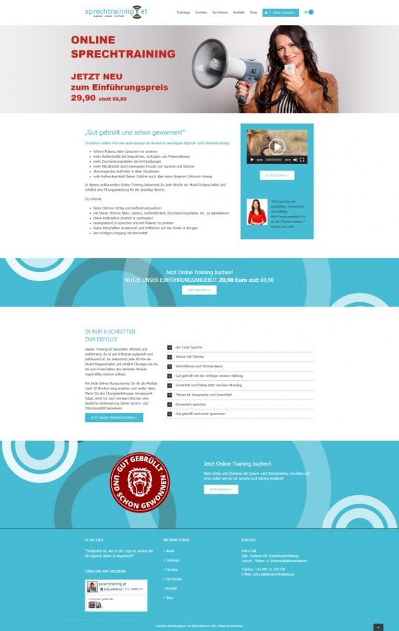 Landing Page für AdWords Kampagne