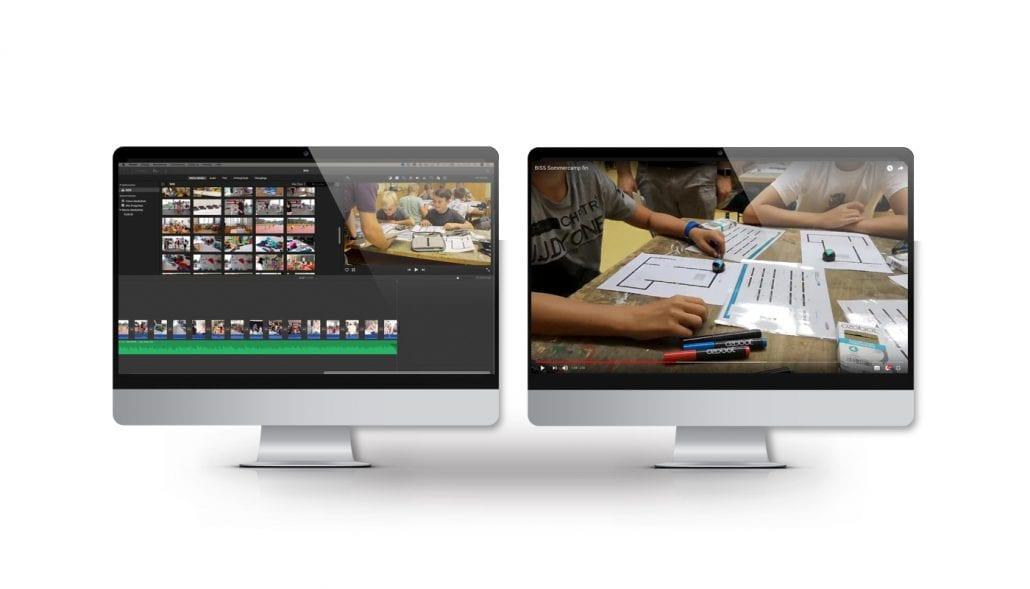"""Screen zum Arbeitsablauf zur Produktion des Imagevideos für den Verein """"mit BiSS"""""""