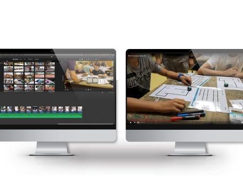 "Screen zum Arbeitsablauf zur Produktion des Imagevideos für den Verein ""mit BiSS"""
