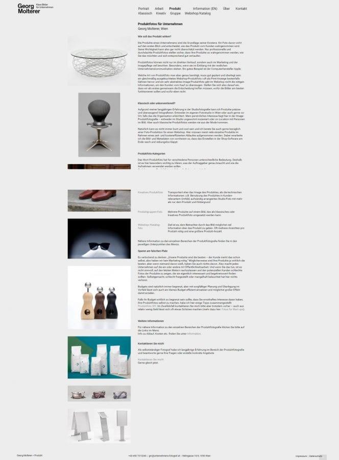 Webseitenerstellung für Fotograf