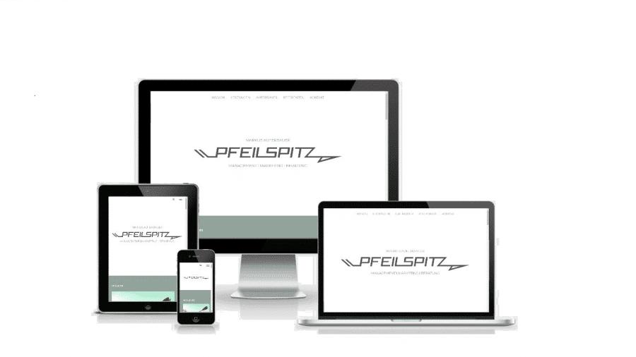 Webseite bzw. One-Pager für Pfeilspitz / Markus Auferbauer - by rechnerherz