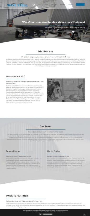Webseite WaveSteel
