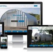 Wavesteel - Webseite in unterschiedlichen Größen