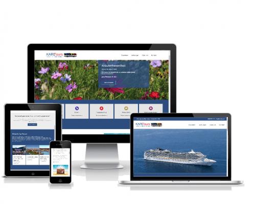 karltours- webseite in verschiedenen Größen