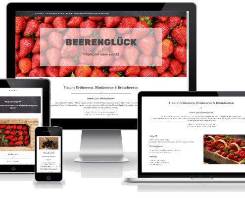 beerenglück - website in verschiedenen Größen