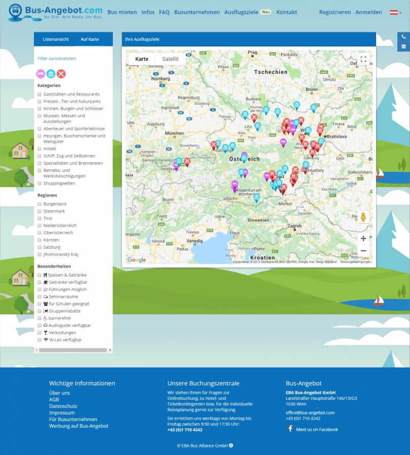 Webseitenerstellung für Bus-Angebot - by rechnerherz