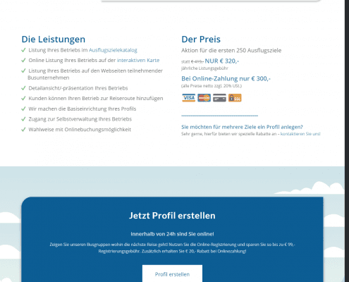 Webseite für Ausflugsziele auf Bus-Angebot - by rechnerherz
