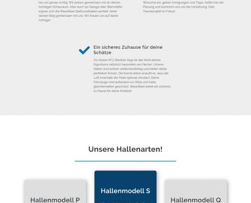 Landingpage für Wavesteel by rechnerherz