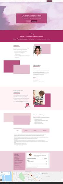 Webseitenerstellung OnePager Dr. Hofstetter by rechnerherz
