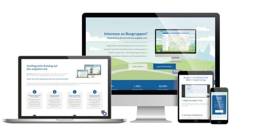 Landing Page bzw. Webseite für Bus-Angebot - by rechnerherz