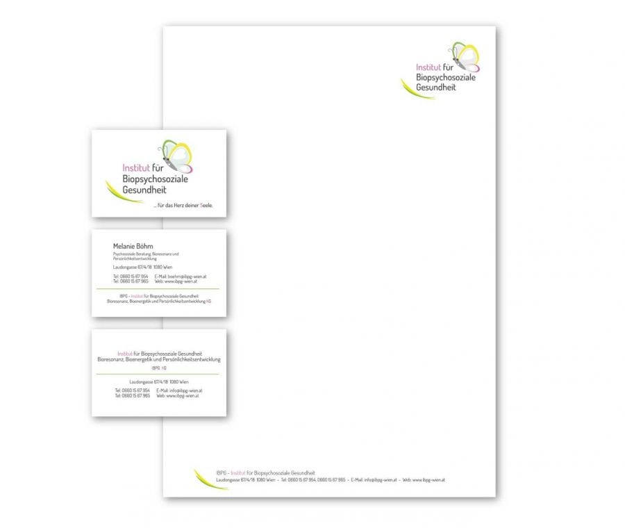 Branding und Drucksorten für IBPG Wien - by rechnerherz