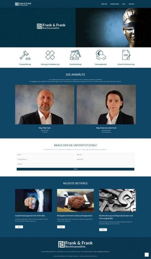 Webseite Rechtsanwalt Frank Startseite by rechnerherz