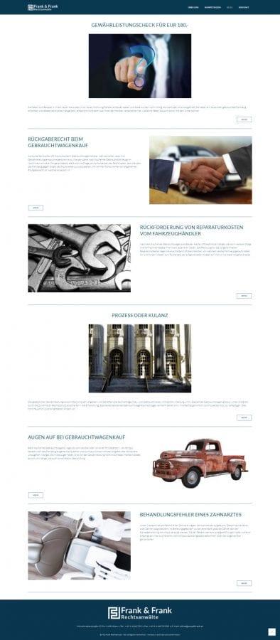 Webseite Rechtsanwalt Frank Blog