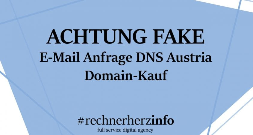 DNS-Austria - betrügerische E-Mail