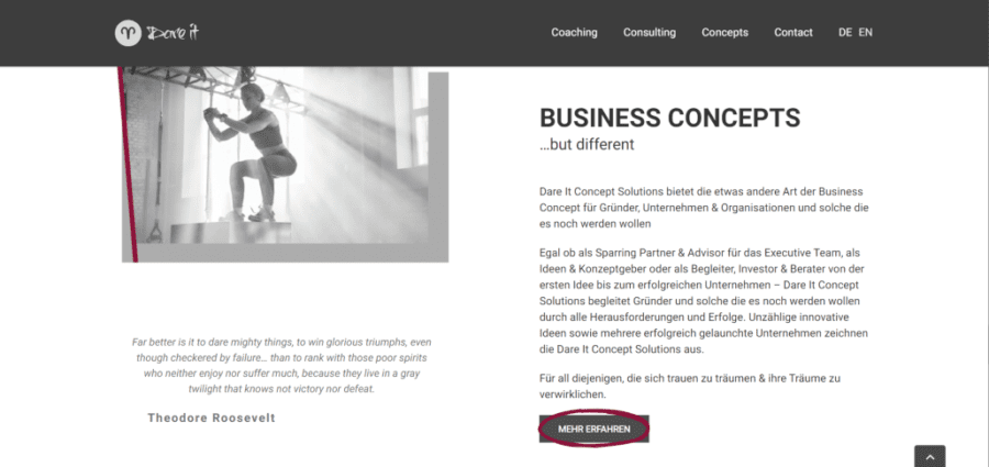 One-Pager Wordpress - dare-it
