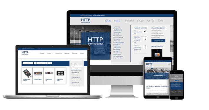 Webseite mit Online-Shop System