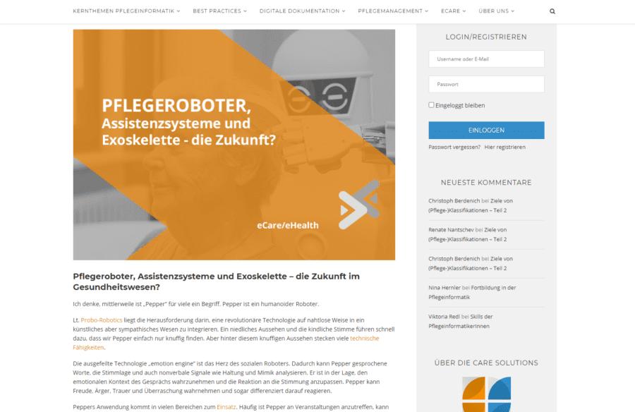 pflegeinformatik.at - Blogansicht