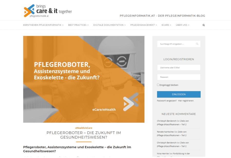 pflegeinformatik.at - Startseite
